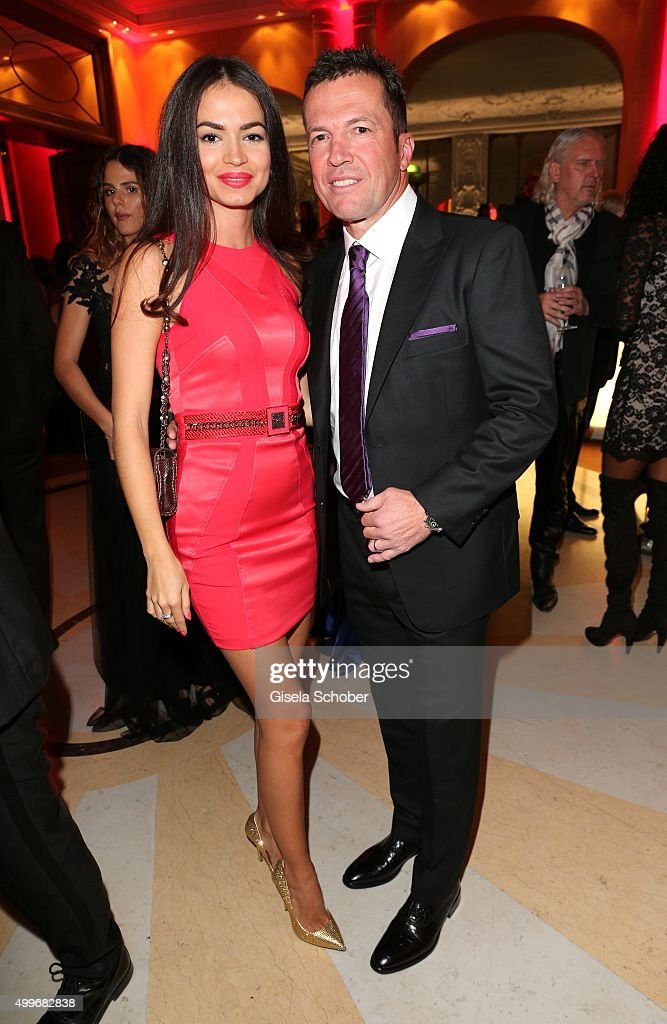 Lothar Matthaeus and his wife Anastasia Klimko attend the Audi Generation Award 2015 at Hotel Bayerischer Hof on December 2 2015 in Munich Germany