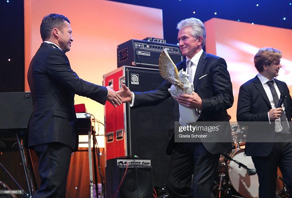 Lothar Matthaeus and Jupp Heynkes Meissen Pegasos Award during the German Sports Media Ball at Alte Oper on November 7 2015 in Frankfurt am Main...