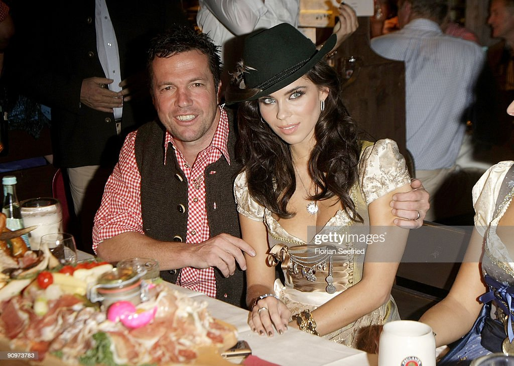 Lothar Matthaeus and wife Kristina Liliana attend the Oktoberfest 2009 opening at Kaefer Schaenke at the Theresienwiese on September 19 2009 in...