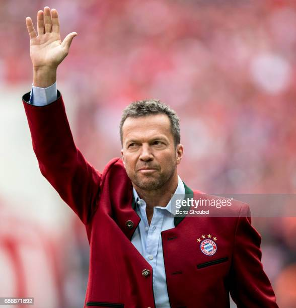 Lothar Matthaeus former player of Bayern Muenchen is pictured prior to the Bundesliga match between Bayern Muenchen and SC Freiburg at Allianz Arena...