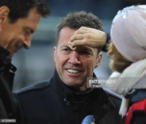 Lothar Matthaeus looks on during the Bundesliga match between Borussia Moenchengladbach and Borussia Dortmund at BorussiaPark on April 22 2017 in...