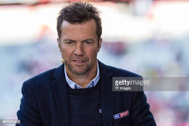 Lothar Matthaeus looks on during the Bundesliga match between Bayern Muenchen and Borussia Dortmund at Allianz Arena on April 8 2017 in Munich Germany