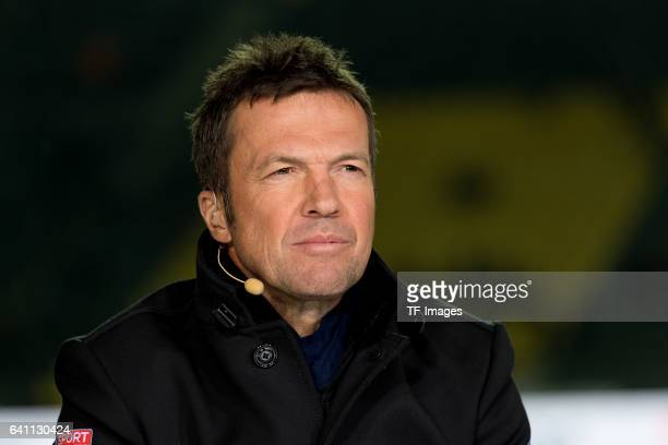 Lothar Matthaeus looks on during the Bundesliga soccer match between Borussia Dortmund and RB Leipzig at the Signal Iduna Park in Dortmund Germany on...