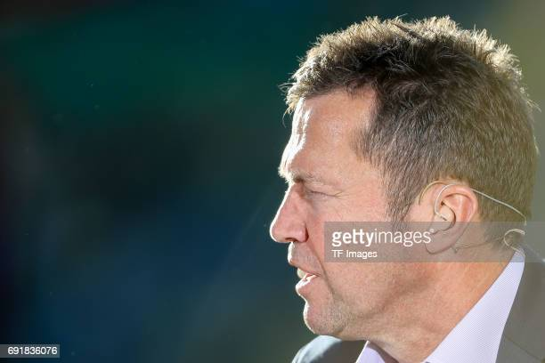 Lothar Matthaeus looks on during the DFB Cup final match between Eintracht Frankfurt and Borussia Dortmund at Olympiastadion on May 27 2017 in Berlin...
