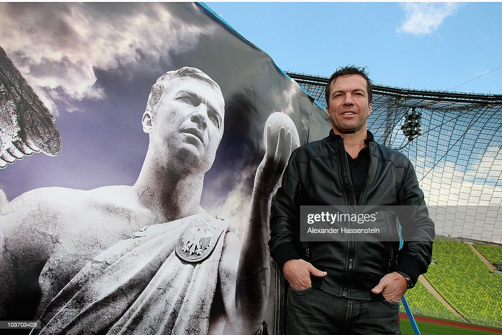 Lothar Matthaeus poses during the launch of the Day of Legends at the Olympic Stadium on August 29 2010 in Munich Germany Five extreme sports athlets...