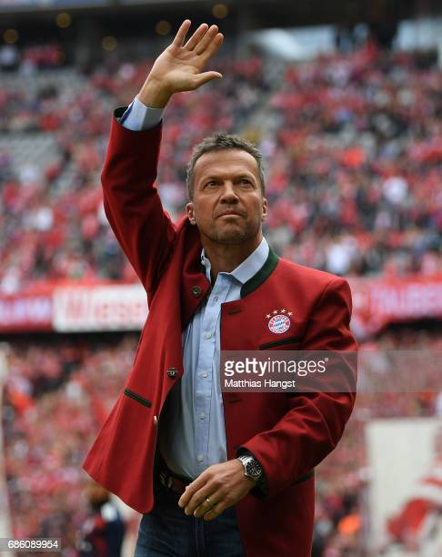 Lothar Matthaeus seen prior to the Bundesliga match between Bayern Muenchen and SC Freiburg at Allianz Arena on May 20 2017 in Munich Germany