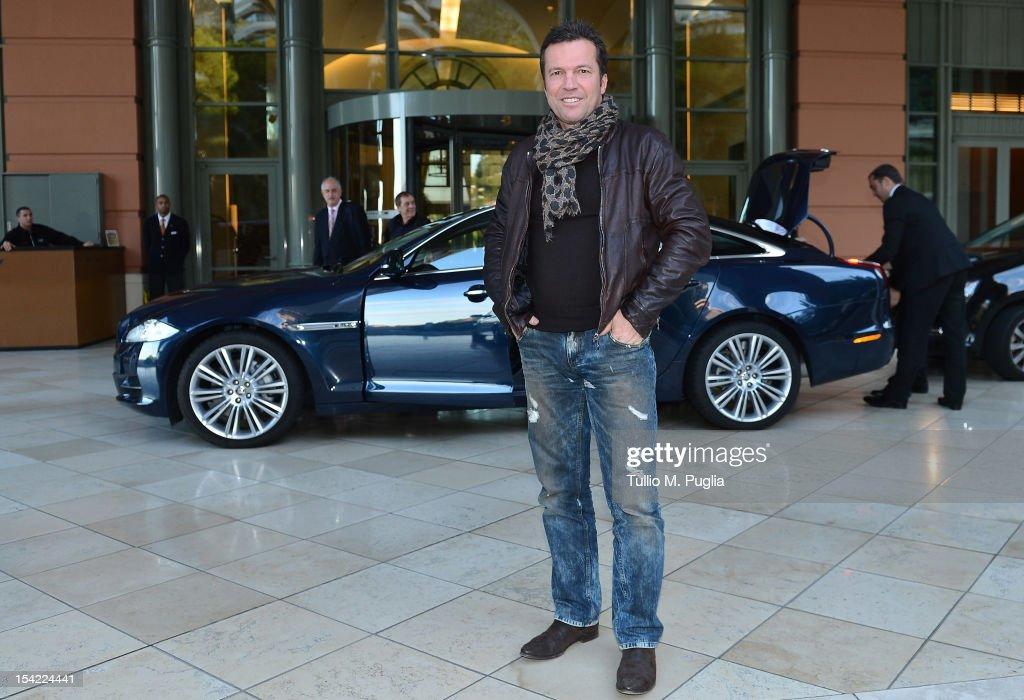 Lothar Matthaus arrives at MonteCarlo Bay on October 16 2012 in MonteCarlo Monaco