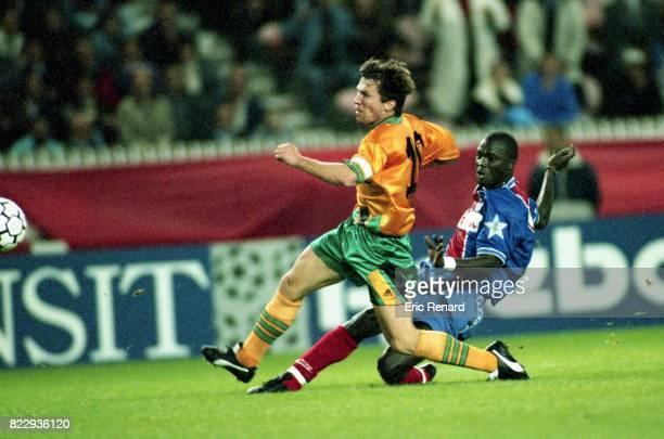 Lothar MATTHAUS / George WEAH PSG / Bayern Munich Phase de Poule de la Champions League 1994/1995 Parc des Princes Paris