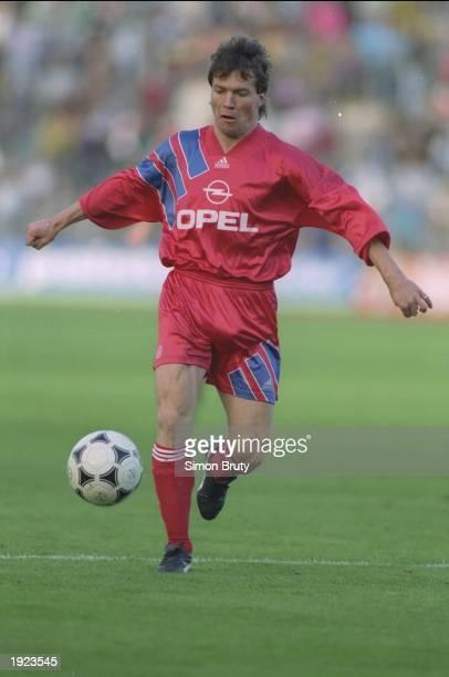 Lothar Matthaus of Bayern Munich in action during a match Mandatory Credit Simon Bruty/Allsport