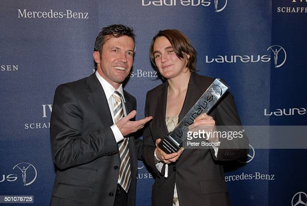 Lothar Matthäus Nadine Angerer Gala 'Laureus Medien Award' 2007 'Witzigmann und Roncalli Bajazzo' München Bayern Deutschland Europa Logo...