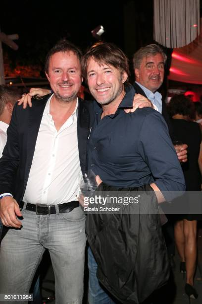 MUNICH GERMANY JUNE 26 Lothar Weissenberger and Bruno Eyron during the Movie meets Media Party during the Munich Film Festival on June 26 2017 in...