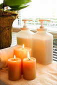 Lotions and aromatherapy candles