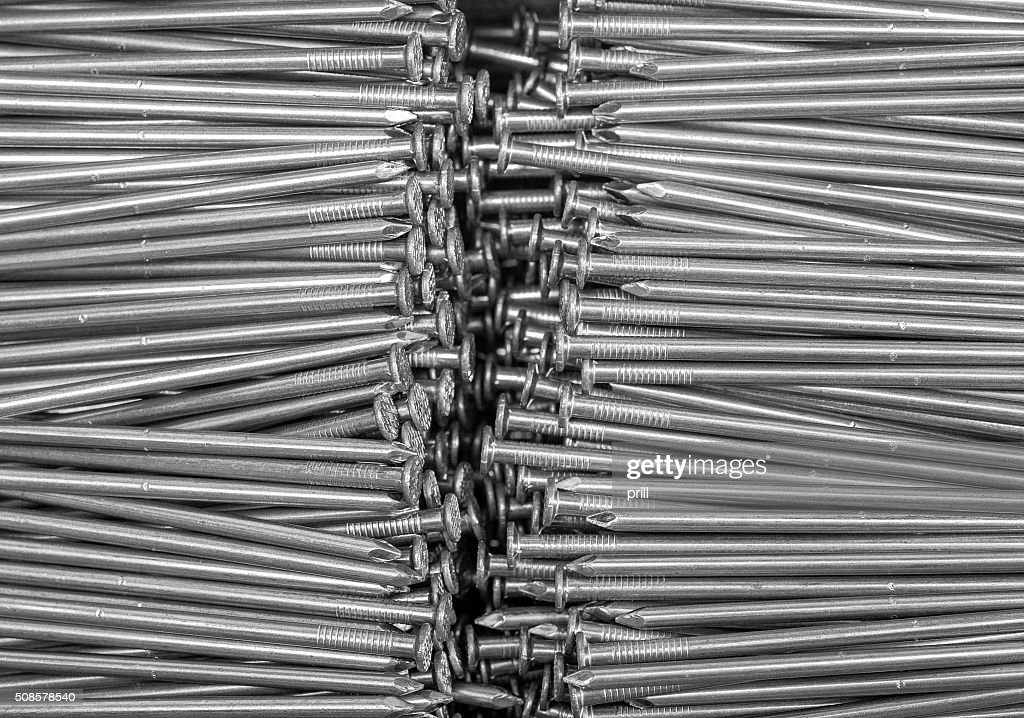 lots of nails : Bildbanksbilder