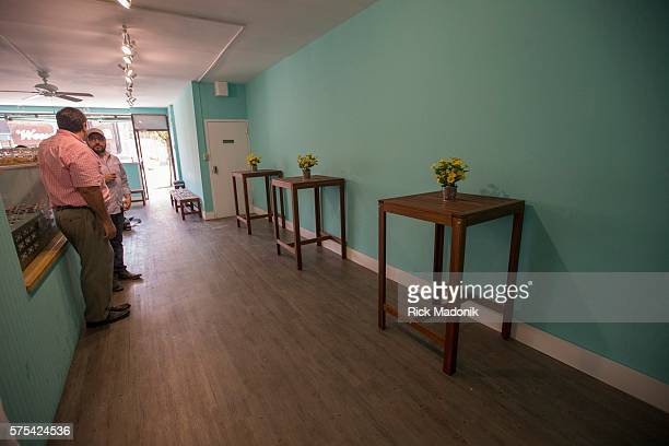 Lots of space to enjoy the cone Francisco Landaeta and Sam Arif coowners cofounders of la Diperie at their newest corporate store on the Danforth Its...