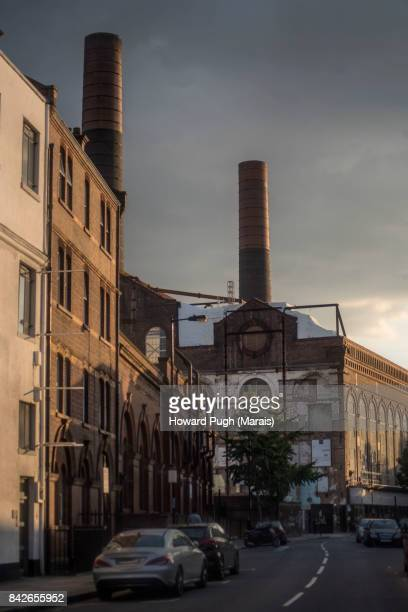 Lots Road Power Station and Chelsea Waterfront Regeneration. Sunset