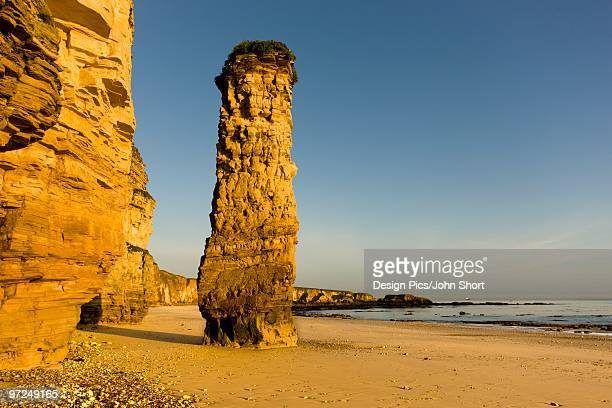 Lot's Wife rock formation, South Shields, Tyne and Wear, England