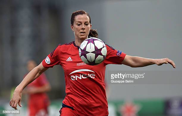 Lotta Schelin of Olympique Lyonnais in action during UEFA Women's Champions League Final between VfL Wolfsburg v Olympique Lyonnais at Mapei Stadium...