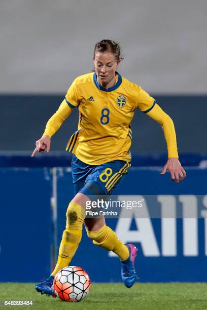 Lotta Schelin of Sweden during the Algarve Cup Tournament Match between China W and Sweden W on March 3 2017 in Vila Real de Santo Antonio Portugal