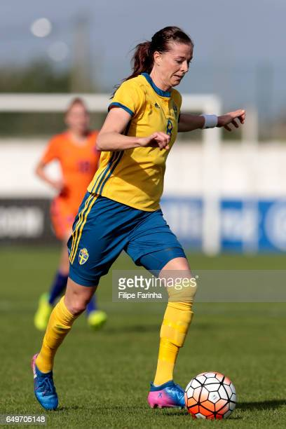 Lotta Schelin of Sweden during the Algarve Cup Tournament Match between Sweden W and Netherlands W on March 6 2017 in Lagos Portugal