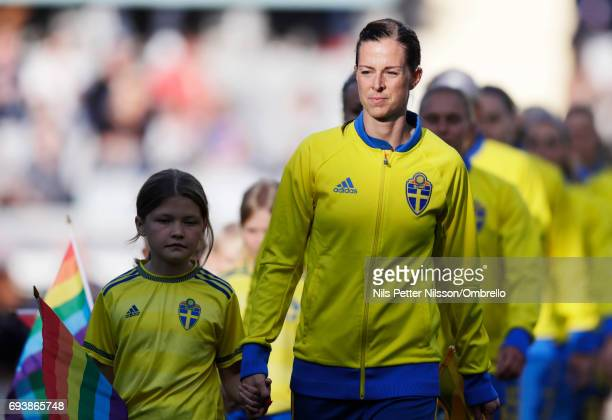 Lotta Schelin of Sweden during the international friendly between Sweden and USA at Ullevi Stadium on June 8 2017 in Gothenburg Sweden