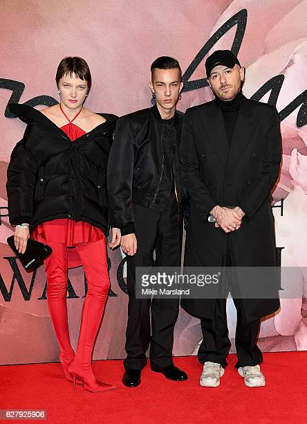 Lotta Volkova and Demna Gvasalia attend The Fashion Awards 2016 on December 5 2016 in London United Kingdom