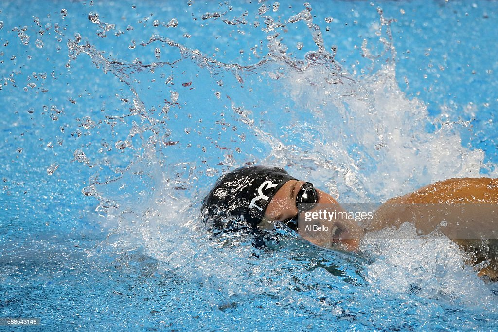Lotte Friis of Denmark competes the Women's 800m Freestyle heat on Day 6 of the Rio 2016 Olympic Games at the Olympic Aquatics Stadium on August 11...
