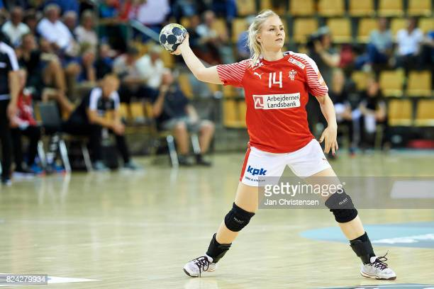 Lotte Grigel of Denmark in action during the international friendly match between Denmark and Germany at Ceres Arena on June 08 2017 in Arhus Denmark
