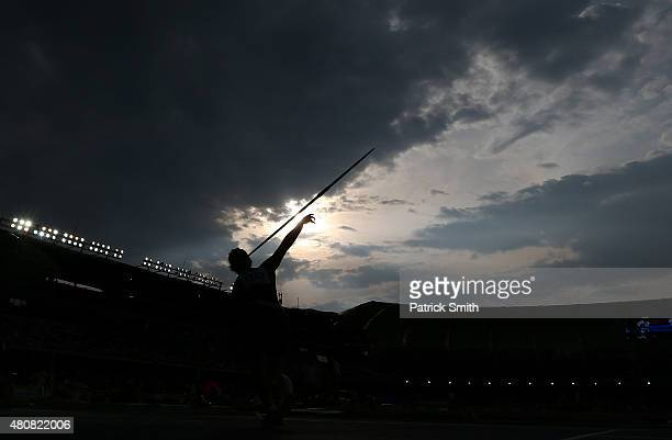 Lotte Reimann of Germany in action during qualification for the Girls Javelin Throw on day one of the IAAF World Youth Championships Cali 2015 on...