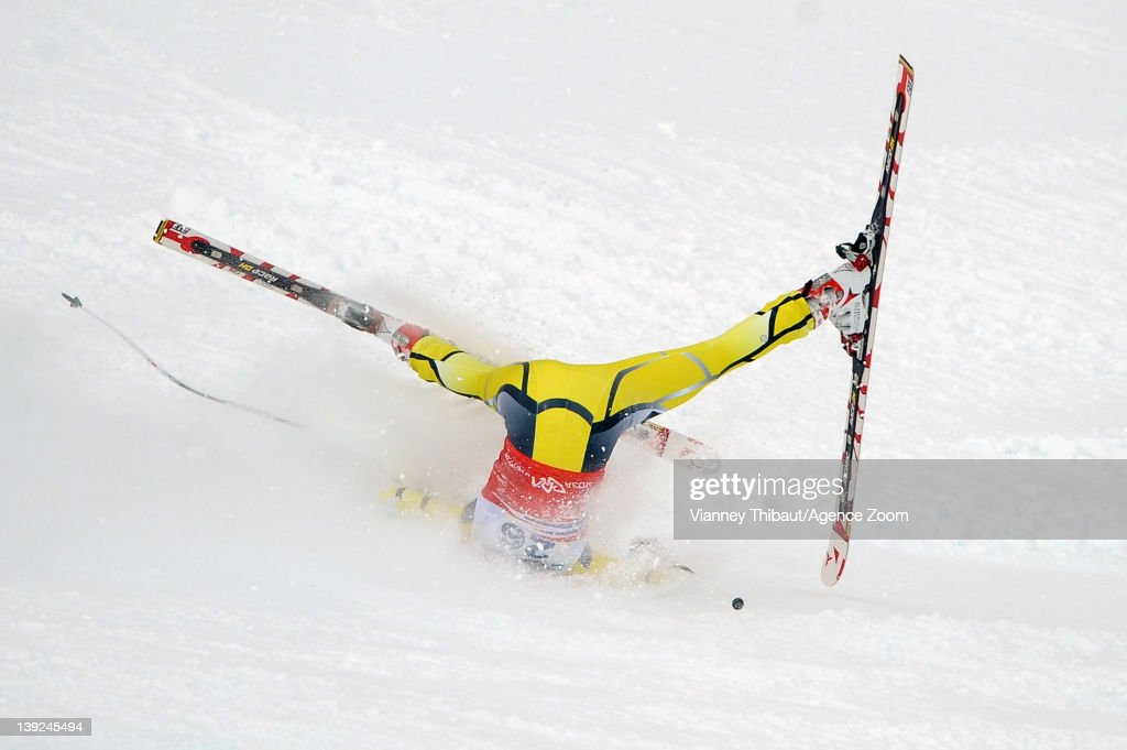 Lotte Smiseth Sejersted of Norway fall during the Audi FIS Alpine Ski World Cup Women's Downhill on February 18, 2012 in Sochi, Russia.