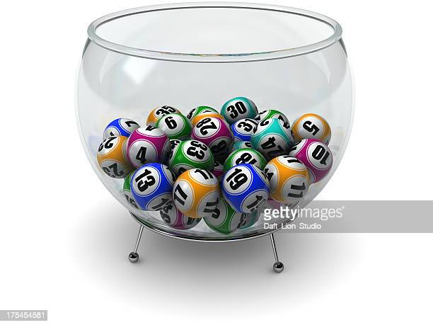 Lottery balls in cup