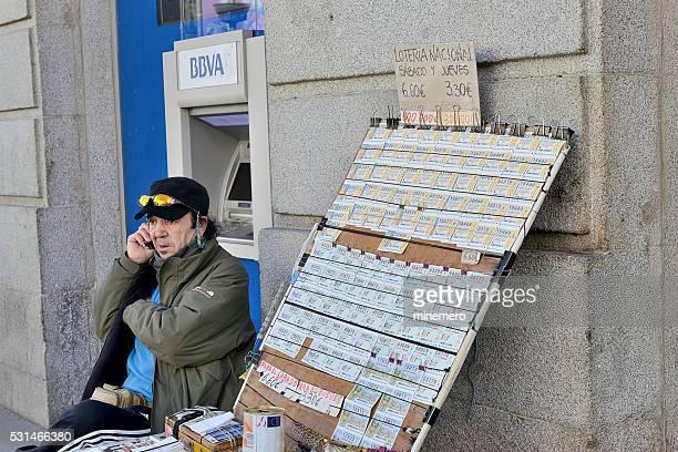 Billet de loterie du Vendeur à Madrid