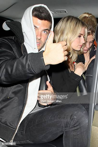 Lottie Moss and Alex Mytton leaving Embargo nightclub on December 14 2016 in London England