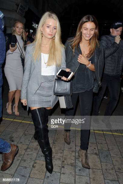 Lottie Moss and Emily Blackwell leaving Cuckoo club Mayfair on October 7 2017 in London England