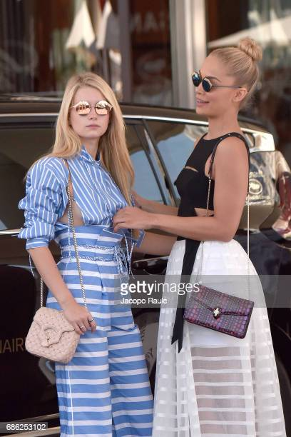 Lottie Moss and Jasmine Sanders are spotted during the 70th annual Cannes Film Festival at on May 21 2017 in Cannes France
