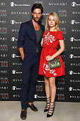 Lottie Moss and Tommy Dunn attend the Bvlgari and Save The Children Unveiling of #RaiseYourHand Campaign at Maxxi Museum on July 8 2016 in Rome Italy