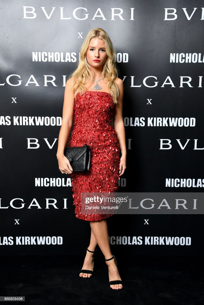 Lottie Moss attends a party celebrating 'Serpenti Forever' By Nicholas Kirkwood for Bvlgari on September 20, 2017 in Milan, Italy.