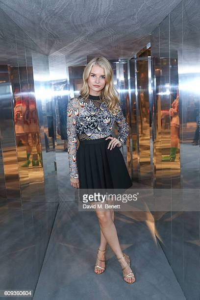 Lottie Moss attends a Private View iD And CHANEL Present The Fifth Sense Mirror Maze By Es Devlin on September 20 2016 in London United Kingdom