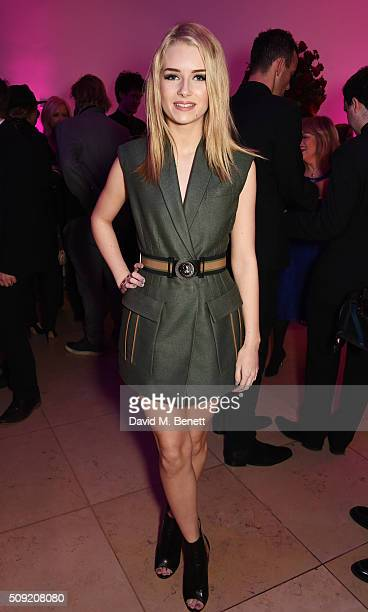 Lottie Moss attends a private view of 'Vogue 100 A Century of Style' hosted by Alexandra Shulman and Leon Max at the National Portrait Gallery on...