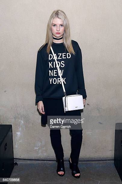 Lottie Moss attends as DKNY X DAZED celebrate the launch of #DazedKidsNewYork at Shoreditch Studios on June 16 2016 in London England