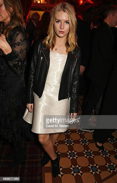 Lottie Moss attends Charlotte Tilbury's naughty Christmas party celebrating the launch of Charlotte's new flagship beauty boutique in Covent Garden...