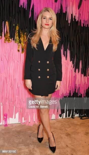 Lottie Moss attends Nasty Gal UK Pop Up Launch Party on Carnaby Street on November 1 2017 in London England