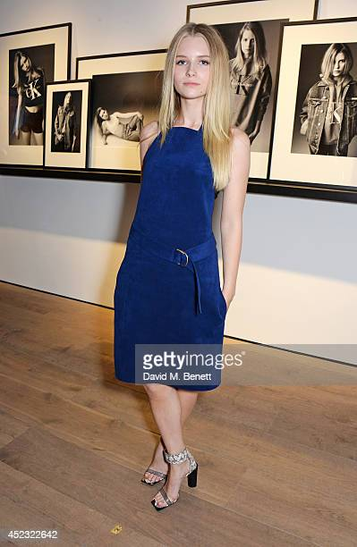 Lottie Moss attends the Calvin Klein Jeans x Mytheresacom party on July 17 2014 in London England