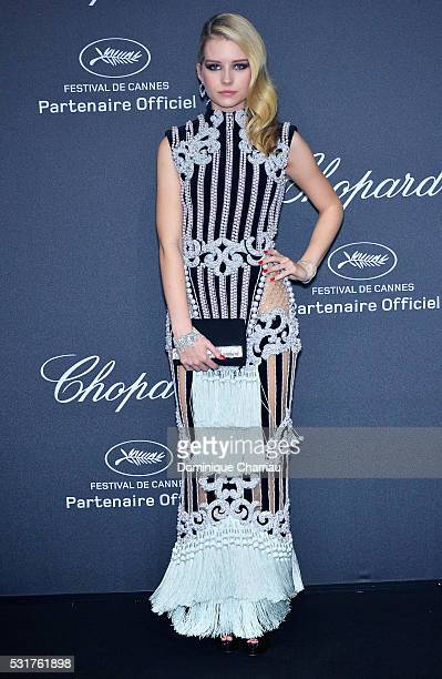 Lottie Moss attends the Chopard Party at Port Canto during the 69th annual Cannes Film Festival on May 16 2016 in Cannes France