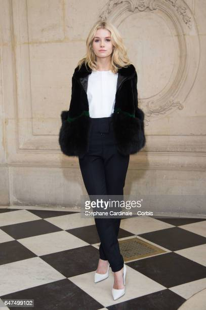 Lottie Moss attends the Christian Dior show as part of the Paris Fashion Week Womenswear Fall/Winter 2017/2018 on March 3 2017 in Paris France