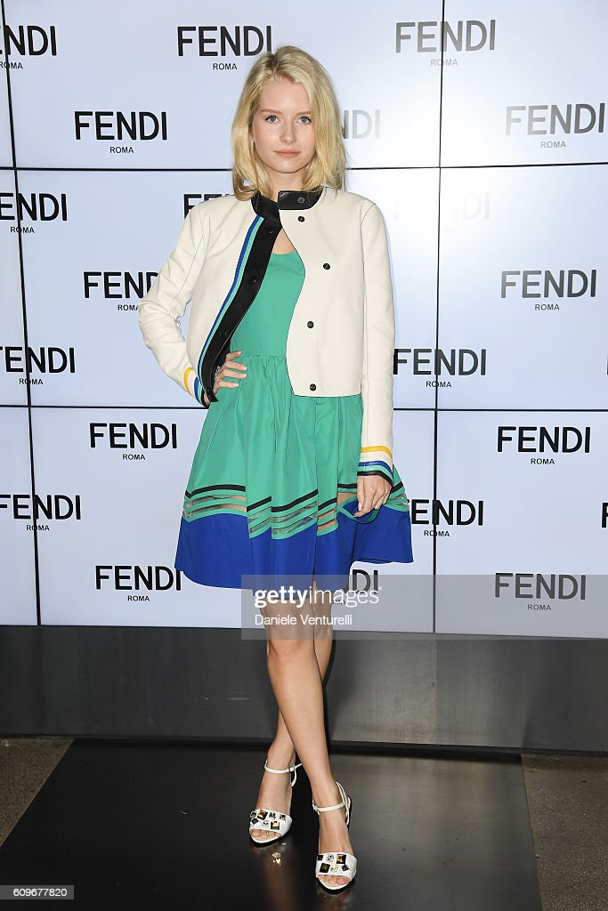 Lottie Moss attends the Fendi show during Milan Fashion Week Spring/Summer 2017 on September 22, 2016 in Milan, Italy.