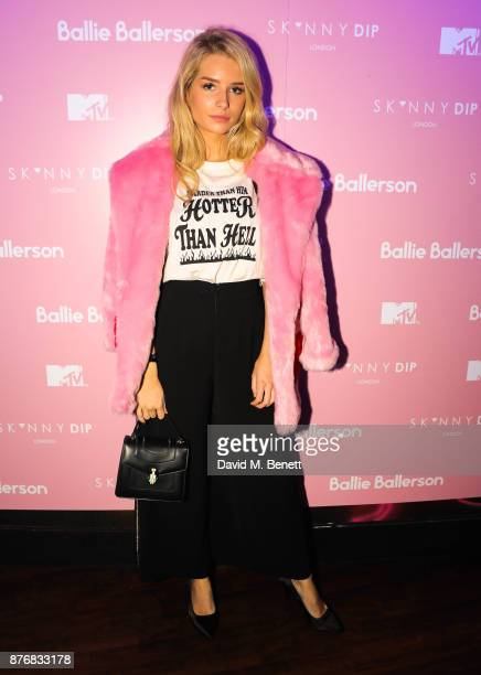 Lottie Moss attends the launch of the Skinnydip x MTV collection at Ballie Ballerson on November 20 2017 in London England