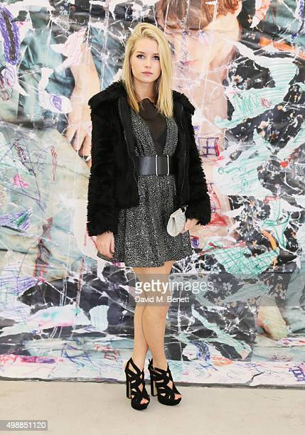 Lottie Moss attends the McQ Spitalfields launch on November 26 2015 in London England