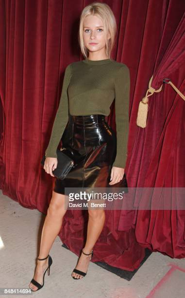 Lottie Moss attends Topshop's London Fashion Week show on September 17 2017 in London England