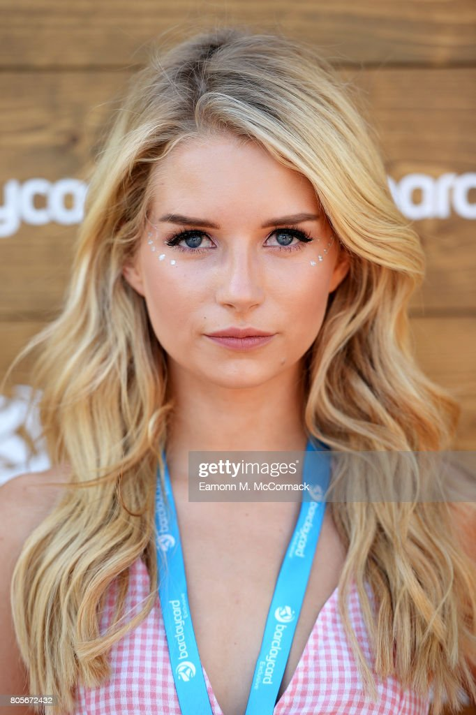 Lottie Moss enjoying Barclaycard Exclusive area at Barclaycard presents British Summer Time Hyde Park at Hyde Park on July 2, 2017 in London, England.
