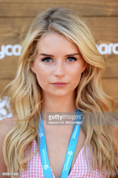 Lottie Moss enjoying Barclaycard Exclusive area at Barclaycard presents British Summer Time Hyde Park at Hyde Park on July 2 2017 in London England